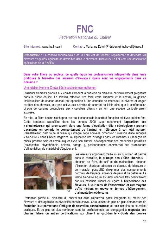 27  FNC  pratiques sanitaires », qui proposent à leurs clients des stages d'éthologie et promeuvent les guides de lutte co...