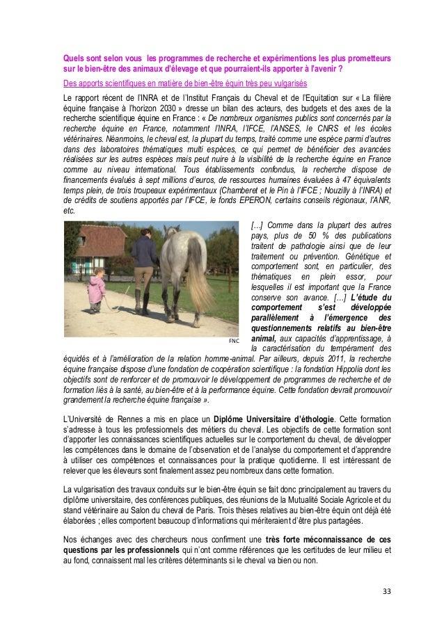 34  FNC  Pourtant, sur les exploitations, la prise en compte du bien-être du cheval a des conséquences positives pour les ...