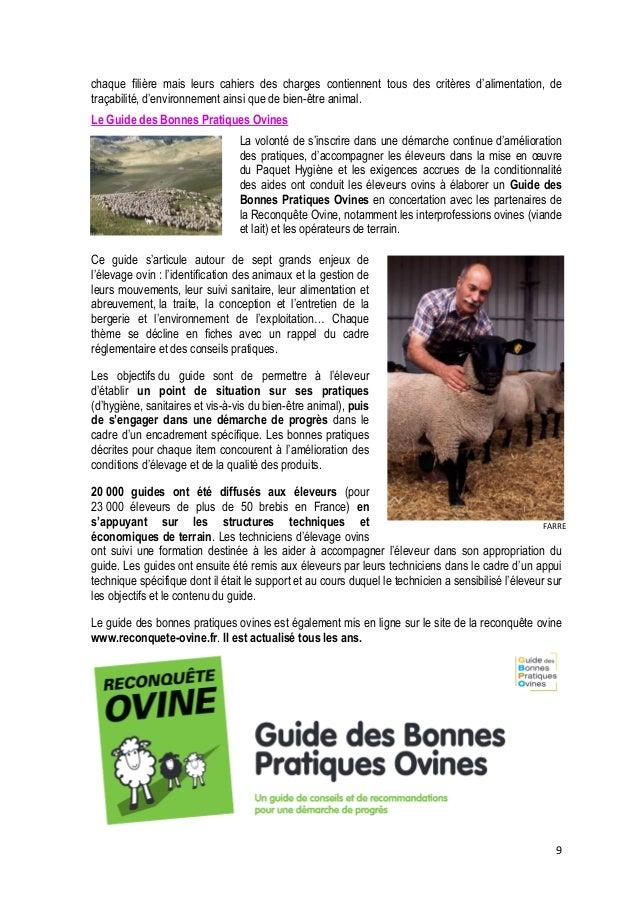10  La Charte des bonnes pratiques d'élevage des bovins  Pour mieux faire comprendre et connaître leurs pratiques, les éle...