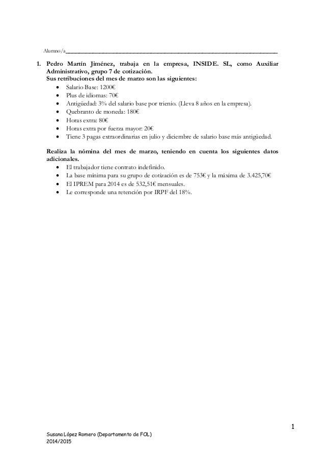 1 Susana López Romero (Departamento de FOL) 2014/2015 Alumno/a____________________________________________________________...