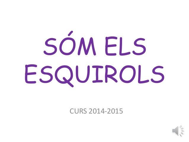 SÓM ELS  ESQUIROLS  CURS 2014-2015