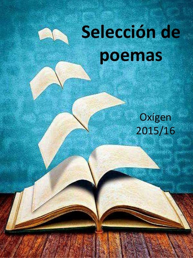 Selección de poemas Oxígen 2015/16