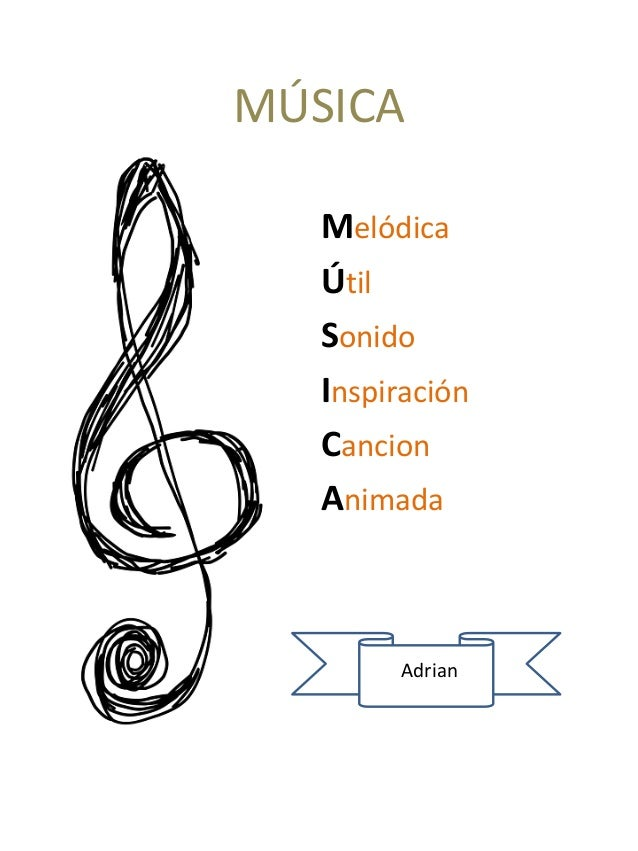 MÚSICA Melódica Útil Sonido Inspiración Cancion Animada Adrian