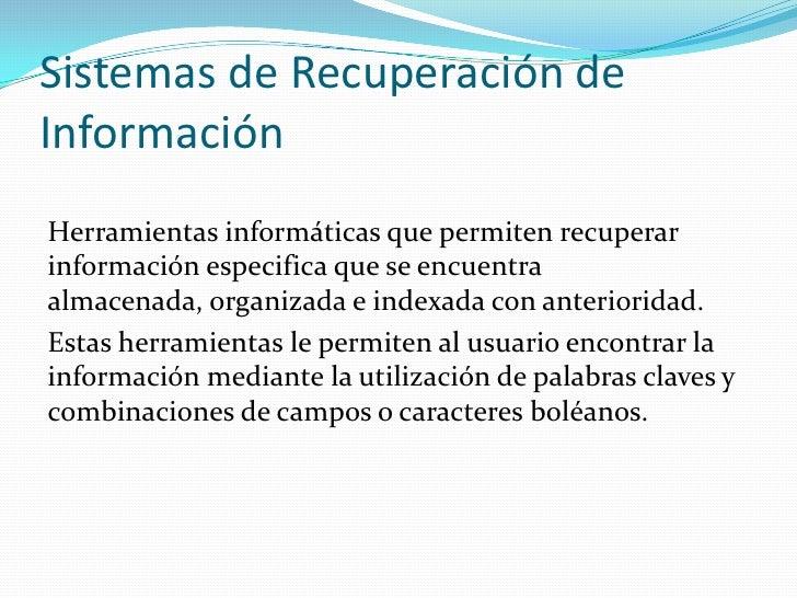 Recuperación de la información Slide 3