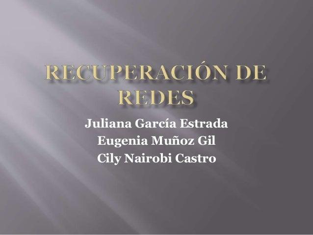 Juliana García Estrada Eugenia Muñoz Gil Cily Nairobi Castro