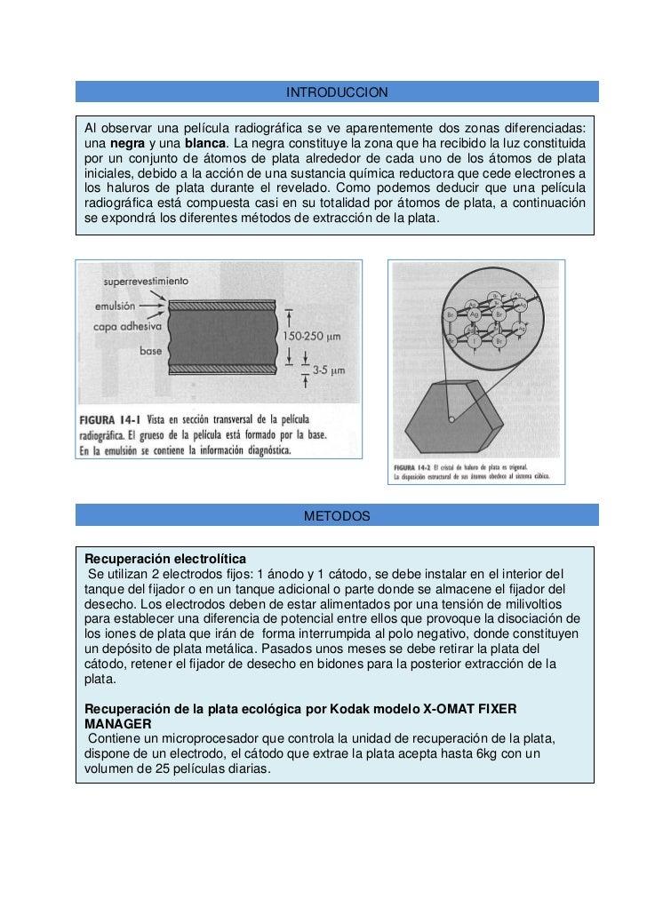 Recuperacion de la plata en radiografias - Como se pule la plata ...