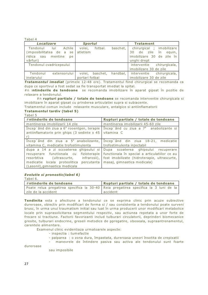 Tabel 4       Localizare                  Sportul                          Tratament   Tendonul      lui  Achile    volei,...