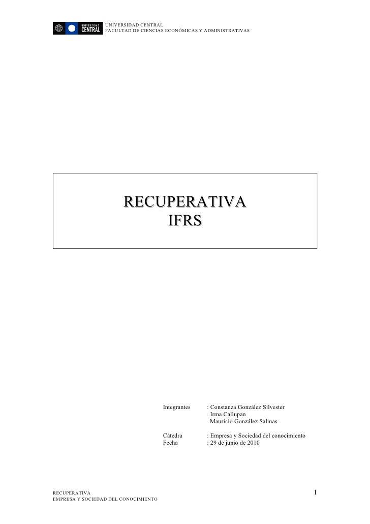 UNIVERSIDAD CENTRAL                  FACULTAD DE CIENCIAS ECONÓMICAS Y ADMINISTRATIVAS                            RECUPERA...