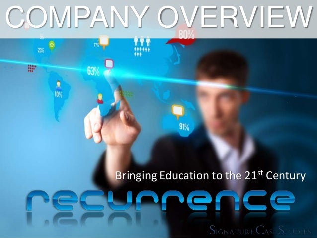 Bringing Education to the 21st Century COMPANY OVERVIEW