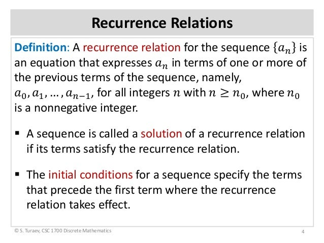 Discrete math recurrence relations ppt video online download.