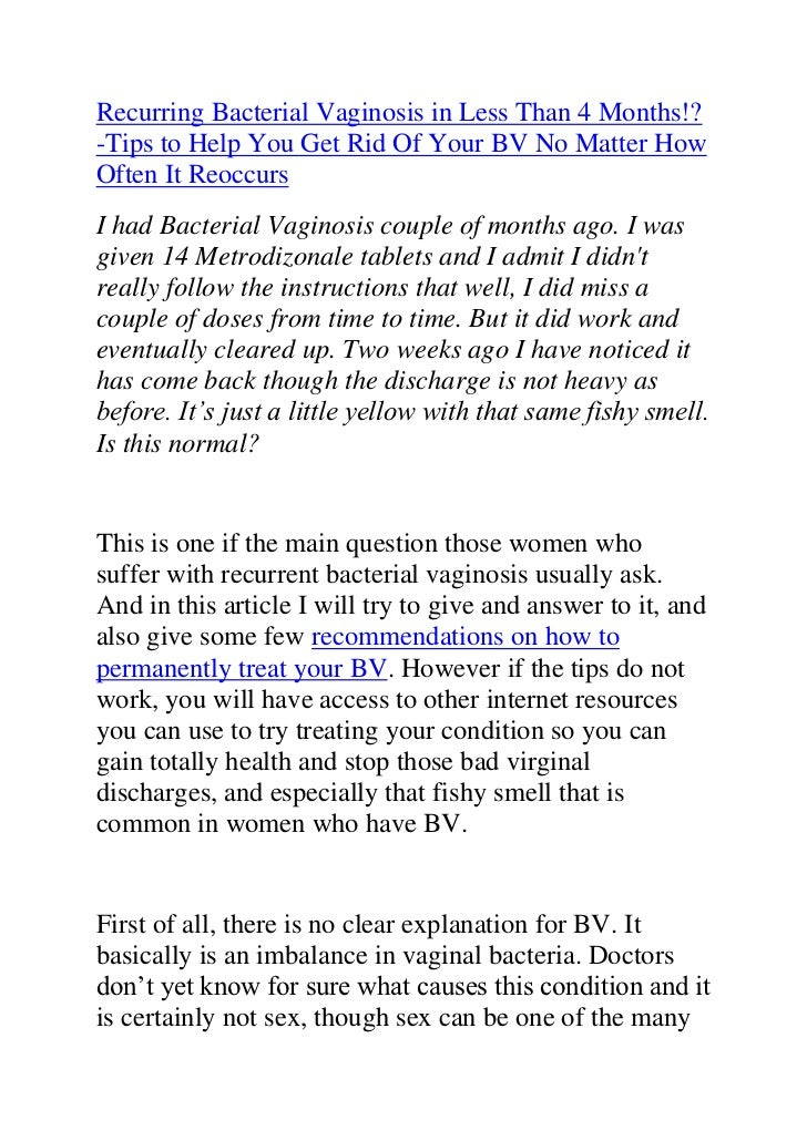 "HYPERLINK ""http://www.articlesbase.com/womens-health-articles/recurring-bacterial-vaginosis-how-to-permanently-treat-your..."
