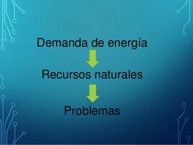 Demanda de energía Recursos naturales Problemas