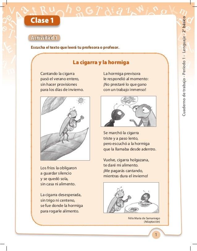 1 Cuadernodetrabajo-Período1-Lenguaje-2°básico Escucha el texto que leerá tu profesora o profesor. Actividad 1 Clase 1 La ...