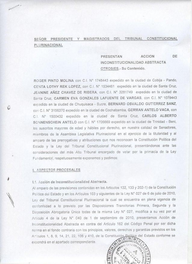 SEÑOR PRESlDENTE Y               ItlAGISIRADOS DEL            TRIBUNAL CONSTITUCIONAL PL UR¡NA CIONA L                    ...