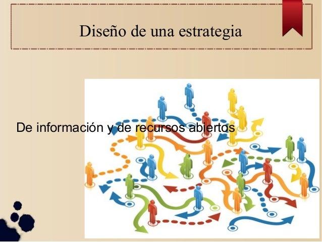 Diseño de una estrategia  De información y de recursos abiertos