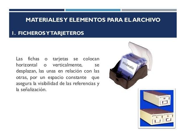 Recursos basicos del archivo for Elementos para oficina