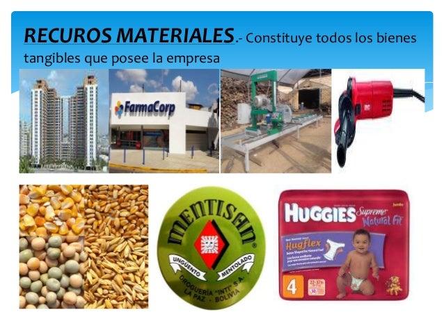 Resultado de imagen de recursos materiales de una empresa