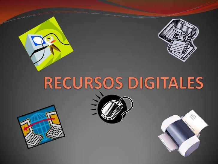 RECURSOS DIGITALES<br />