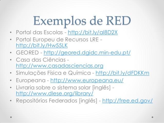 Observatório dos Recursos Educativos http://www.ore.org.pt/