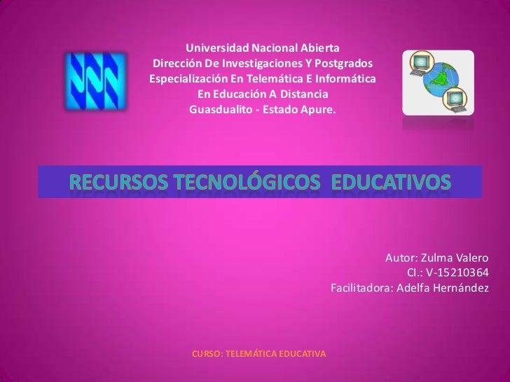 <br />Universidad Nacional Abierta<br />Dirección De Investigaciones Y Postgrados<br />Especialización En Telemática E In...