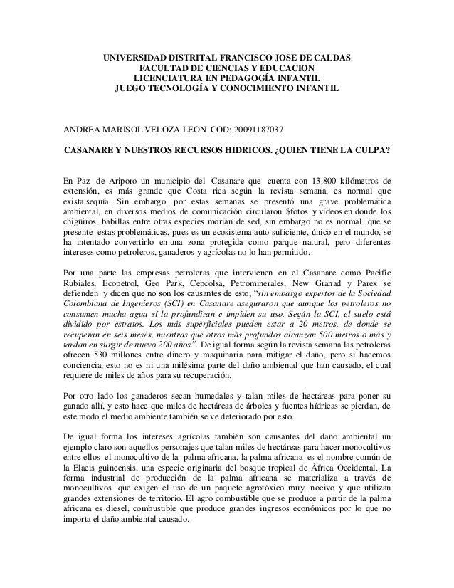 UNIVERSIDAD DISTRITAL FRANCISCO JOSE DE CALDAS FACULTAD DE CIENCIAS Y EDUCACION LICENCIATURA EN PEDAGOGÍA INFANTIL JUEGO T...