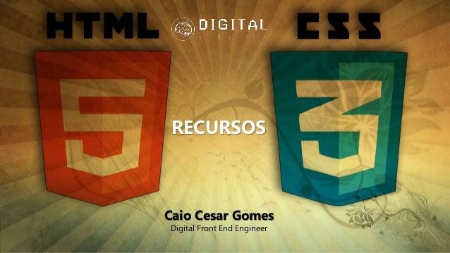 Caio Cesar Gomes Digital Front End Engineer RECURSOS