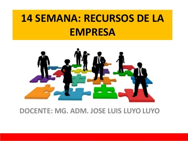14 SEMANA: RECURSOS DE LA EMPRESA DOCENTE: MG. ADM. JOSE LUIS LUYO LUYO