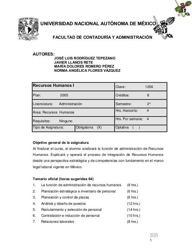 UNIVERSIDAD NACIONAL AUTÓNOMA DE MÉXICO               FACULTAD DE CONTADURÍA Y ADMINISTRACIÓNAUTORES:                JOSÉ ...