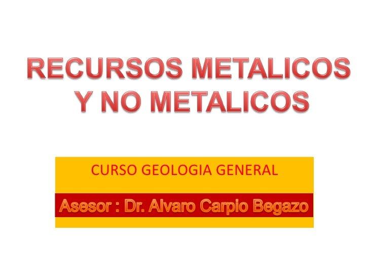 CURSO GEOLOGIA GENERAL