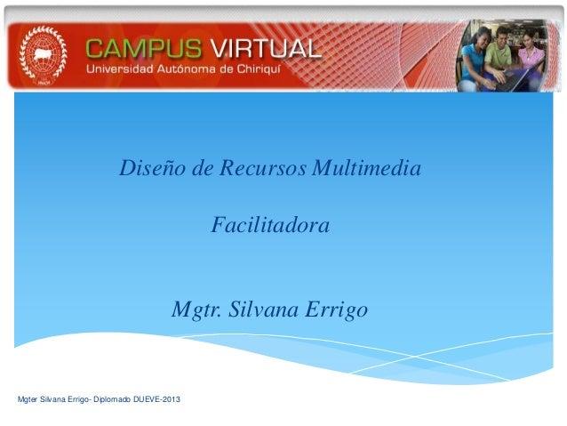 Diseño de Recursos Multimedia                                             Facilitadora                                    ...