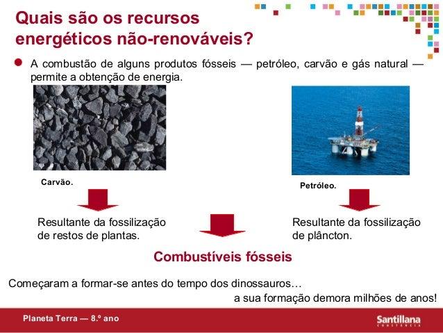Quais são os recursosenergéticos não-renováveis?A combustão de alguns produtos fósseis — petróleo, carvão e gás natural —p...
