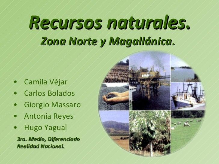 Recursos naturales. <ul><li>Camila Véjar </li></ul><ul><li>Carlos Bolados </li></ul><ul><li>Giorgio Massaro </li></ul><ul>...