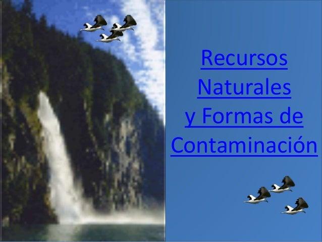 Recursos Naturales y Formas de Contaminación