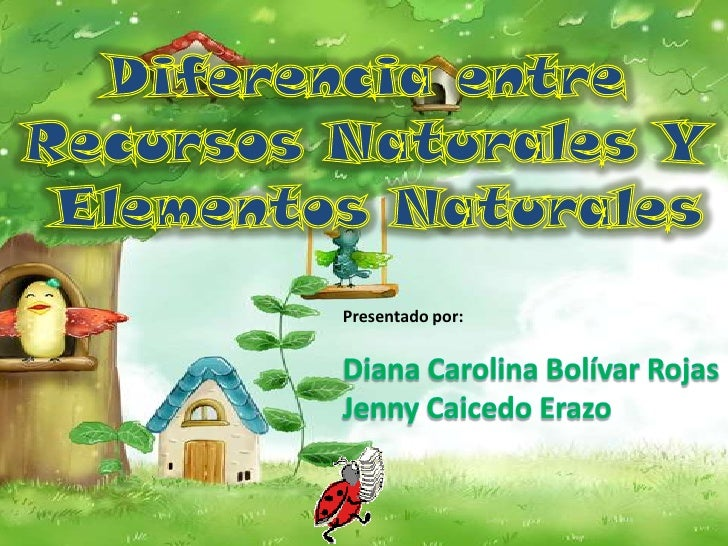 Diferencia entre <br />Recursos Naturales Y <br />Elementos Naturales<br />Presentado por:<br />Diana Carolina Bolívar Roj...