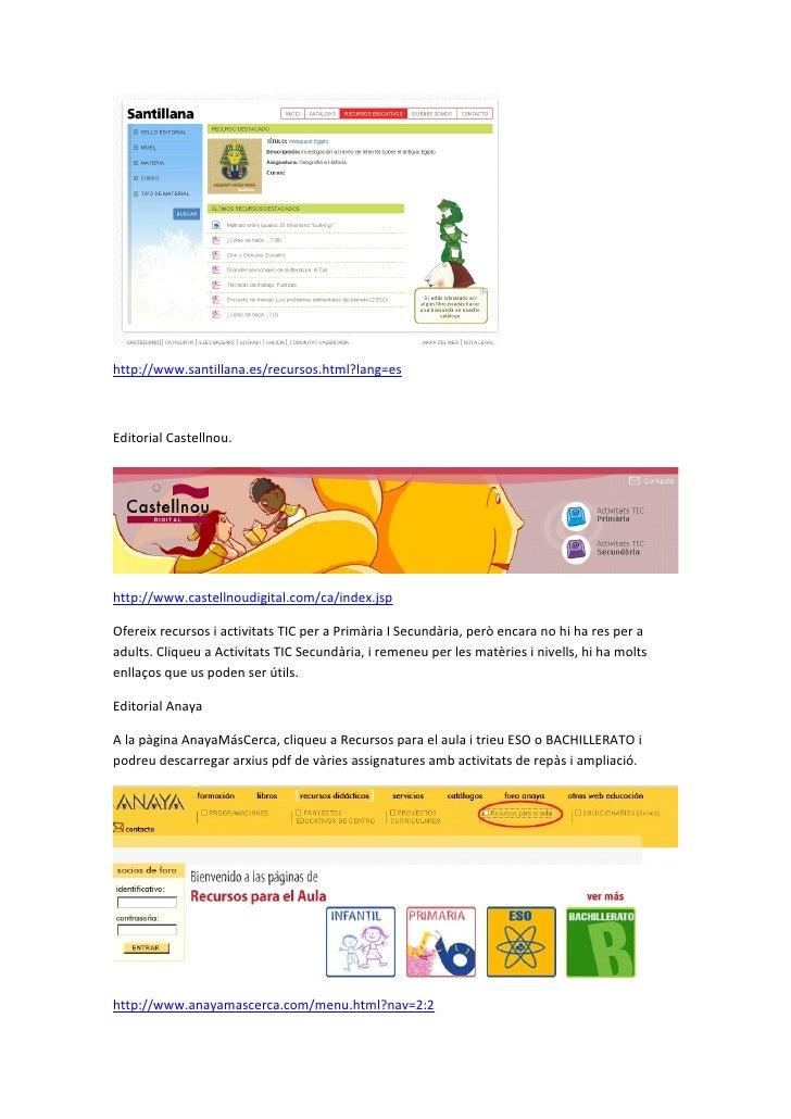 Recursos Online De Les Editorials