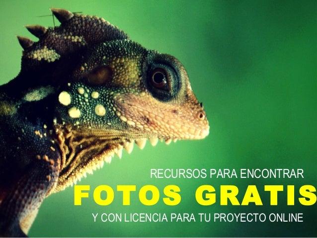 RECURSOS PARA ENCONTRAR  FOTOS GRATIS  Y CON LICENCIA PARA TU PROYECTO ONLINE