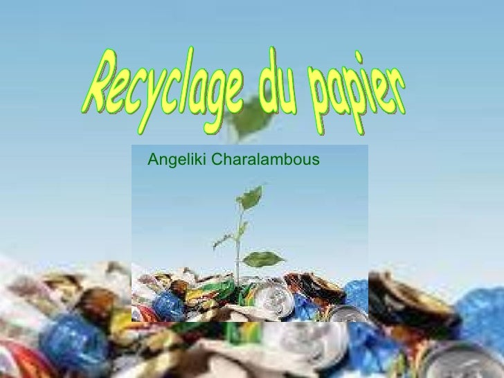 Recyclage du papier Angeliki Charalambous