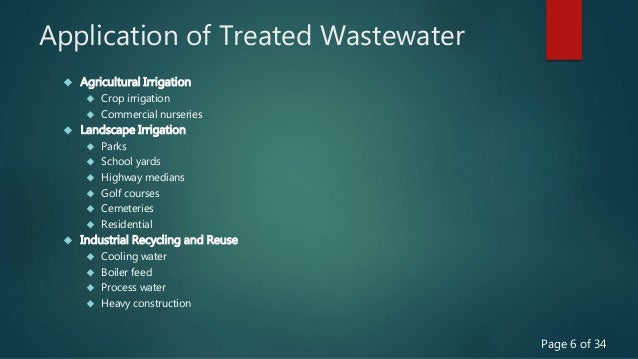 """Ppt """"efficient use of water through treatment and recycling of."""