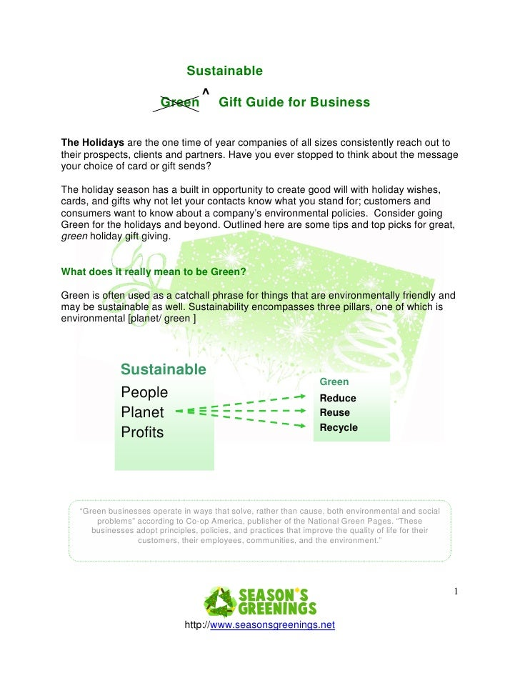 Sustainable                                     ^                         Green           Gift Guide for BusinessThe Holid...