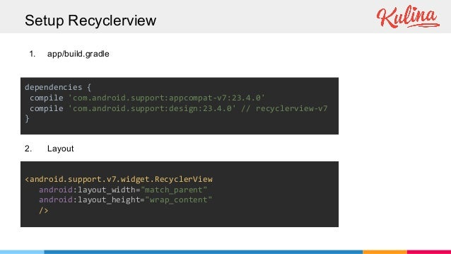 Recyclerview in action