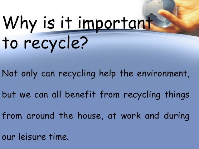 Why is it important to recycle paper