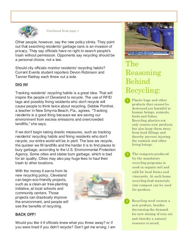Research papers on mandatory recycling