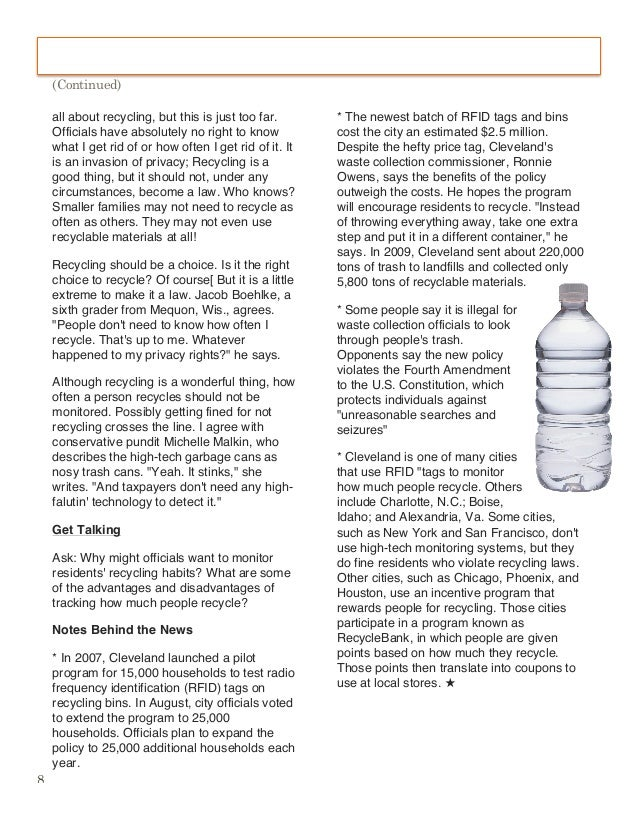 persuasive essay on why recycling should be mandatory Mandatory recycling: programs which, by law  the persuasive essay - the persuasive essay step 5 organize and outline your ideas body paragraph #1.