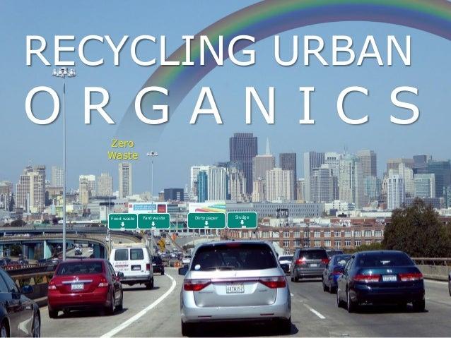 Zero Waste RECYCLING URBAN O R G A N I C S SludgeDirty paperYard wasteFood waste