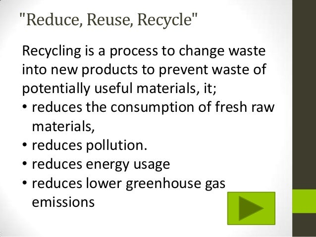 recycling importance essay