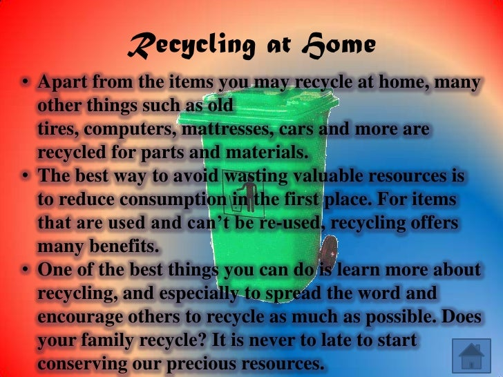 essay on recycling of waste Through recycling, the communities can reduce their waste disposal costs also through the recycled materials, communities can offset the cost of their waste disposal and thereby reduce their expenditure.