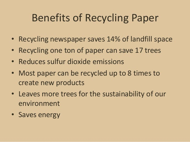 Environmental benefits of recycling essay