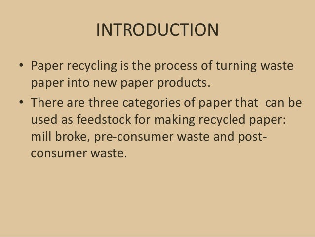 an introduction to the analysis of recycling Introduction to failure analysis and prevention analysis, to achieve the levels of quality and customer satisfaction defined by the new management systems.