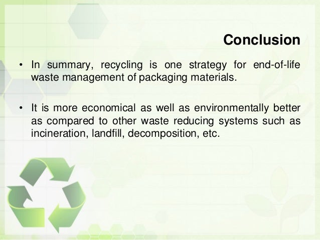 conclusion on recycling