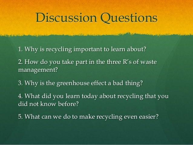Recycling presentation
